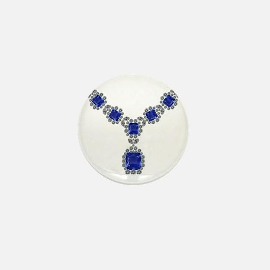 Sapphire and Diamond Necklace Mini Button