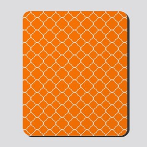 Orange Quatrefoil Pattern Mousepad