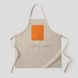 Orange Quatrefoil Pattern Apron