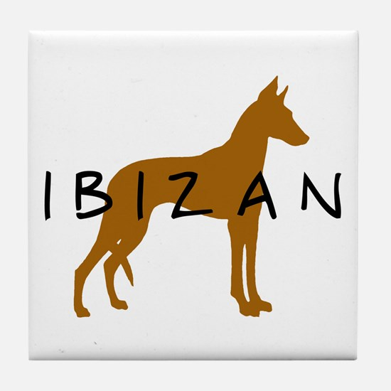 Ibizan Dog (brown) Tile Coaster