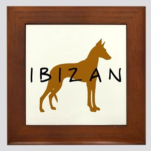 Ibizan Dog (brown) Framed Tile