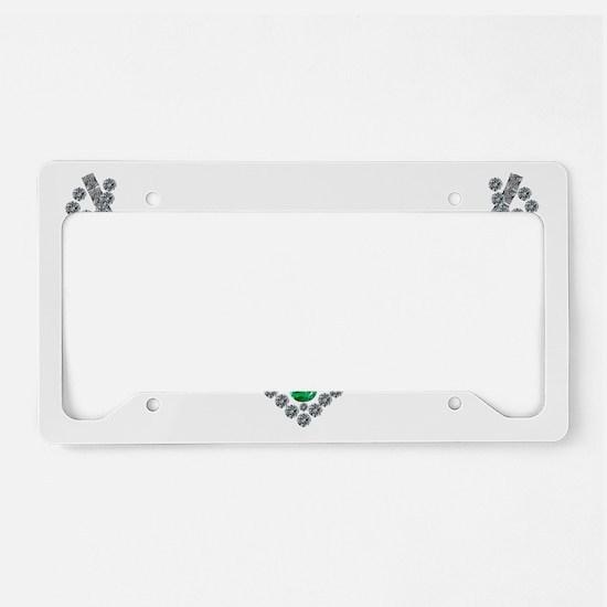 1950s Emerald and Diamond Nec License Plate Holder