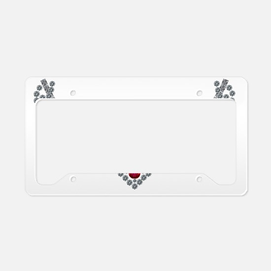 1950s Ruby and Diamond Neckla License Plate Holder