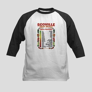 Scoville Heat Scale Kids Baseball Tee
