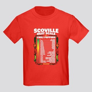 Scoville Heat Scale Kids Dark T-Shirt