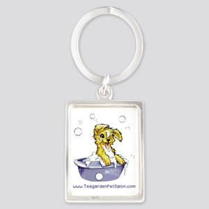 Doggie Dog Wash Portrait Keychain