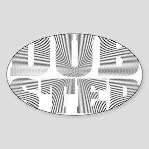 Dub Step Vinyl Sticker (Oval)