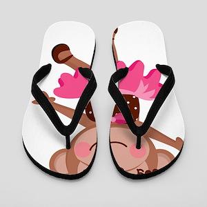 Monkey Ballerina Flip Flops