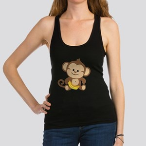 Boy Monkey With Bananas Racerback Tank Top