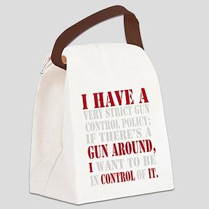 Gun Control Canvas Lunch Bag