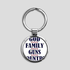 Gun Control Round Keychain
