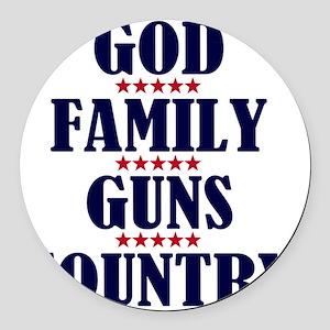 Gun Control Round Car Magnet
