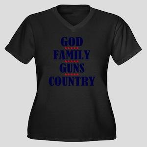 Gun Control Women's Plus Size Dark V-Neck T-Shirt