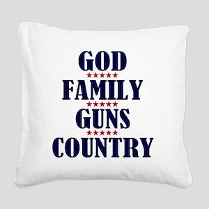 Gun Control Square Canvas Pillow