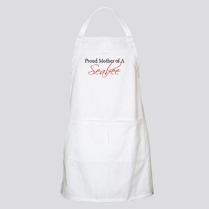 Proud Mother of a Seabee (red BBQ Apron