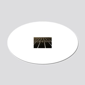 Race Track Numbers In Sepia  20x12 Oval Wall Decal