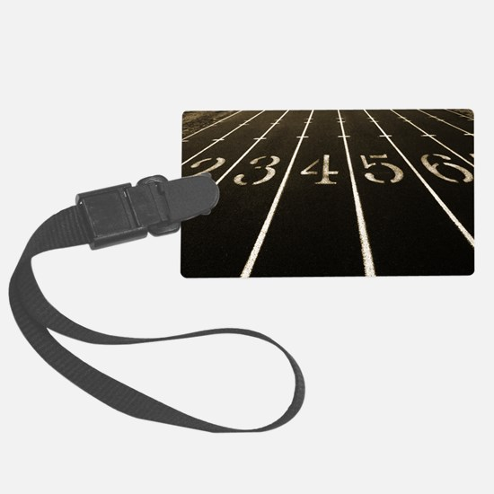 Race Track Numbers In Sepia Tone Luggage Tag