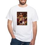 The Path & Basset White T-Shirt