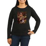 The Path & Basset Women's Long Sleeve Dark T-Shirt