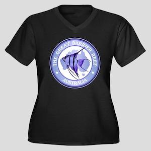 Australia -T Women's Plus Size Dark V-Neck T-Shirt