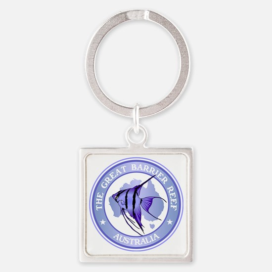 Australia -The Great Barrier Reef Square Keychain