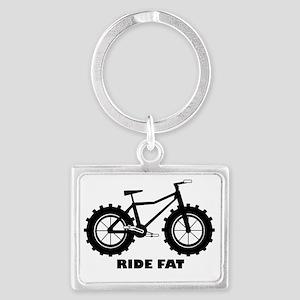 Ride Fat Landscape Keychain