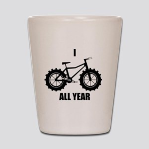 I Fatbike All year Shot Glass