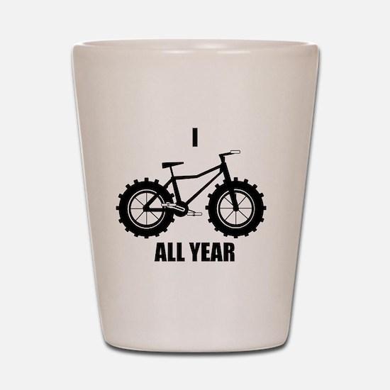 I Fatbike All year Shot Glass