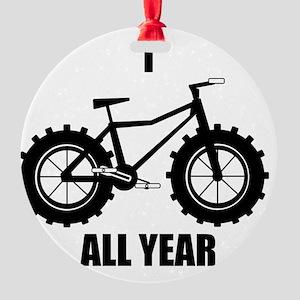 I Fatbike All year Round Ornament