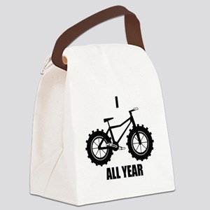 I Fatbike All year Canvas Lunch Bag