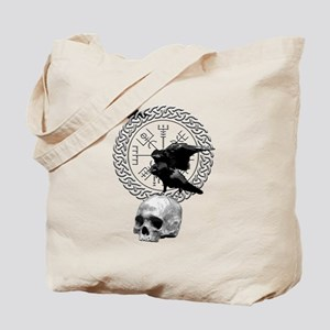 Vegvisir with Huginn and Muninn Tote Bag