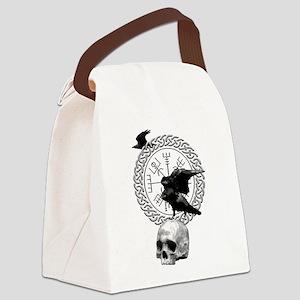 Vegvisir with Huginn and Muninn Canvas Lunch Bag
