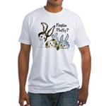 Funny Rabbits Fitted T-Shirt