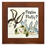 Funny Rabbits Framed Tile
