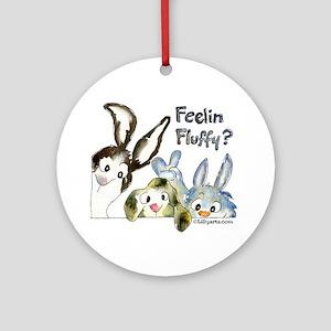 Funny Rabbits Ornament (Round)