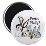 "Funny Rabbits 2.25"" Magnet (10 pack)"
