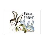 Funny Rabbits Mini Poster Print