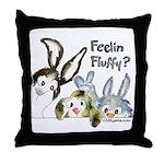 Funny Rabbits Throw Pillow