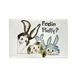 Funny Rabbits Rectangle Magnet (100 pack)