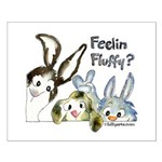 Funny Rabbits Small Poster