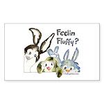 Funny Rabbits Rectangle Sticker