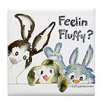 Funny Rabbits Tile Coaster