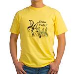 Funny Rabbits Yellow T-Shirt
