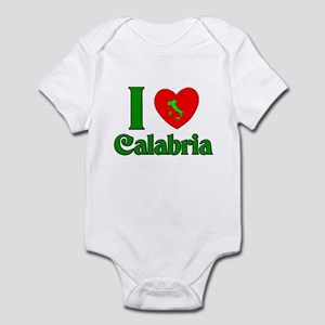 I Love Calabria Italy Infant Bodysuit