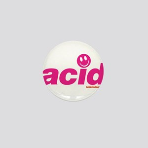 Pink Acid Mini Button