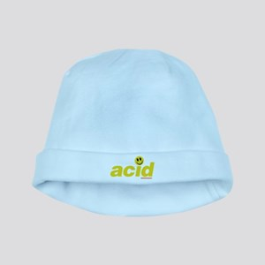 Acid Smiley baby hat