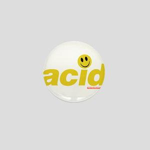 Acid Smiley Mini Button