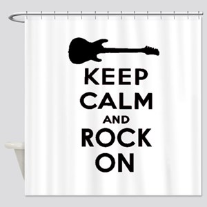 ROCK ON Shower Curtain