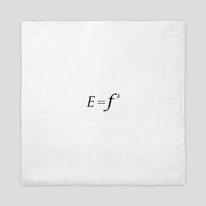 E equals F flat Queen Duvet