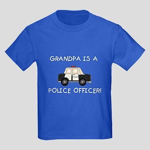Grandpa Police Officer Kids Dark T-Shirt